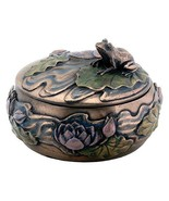 NEW Small Heavy Faux Vintage Looking Sitting Frog on Lily Pad Womans Jew... - €26,31 EUR