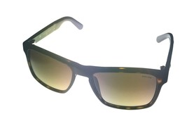 Police Mens Sunglass Tortoise Brown Soft Square Plastic S1858M 722 - $89.99