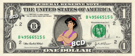 ALADDIN Disney on REAL Dollar Bill Cash Money Memorabilia Collectible Ce... - $6.66