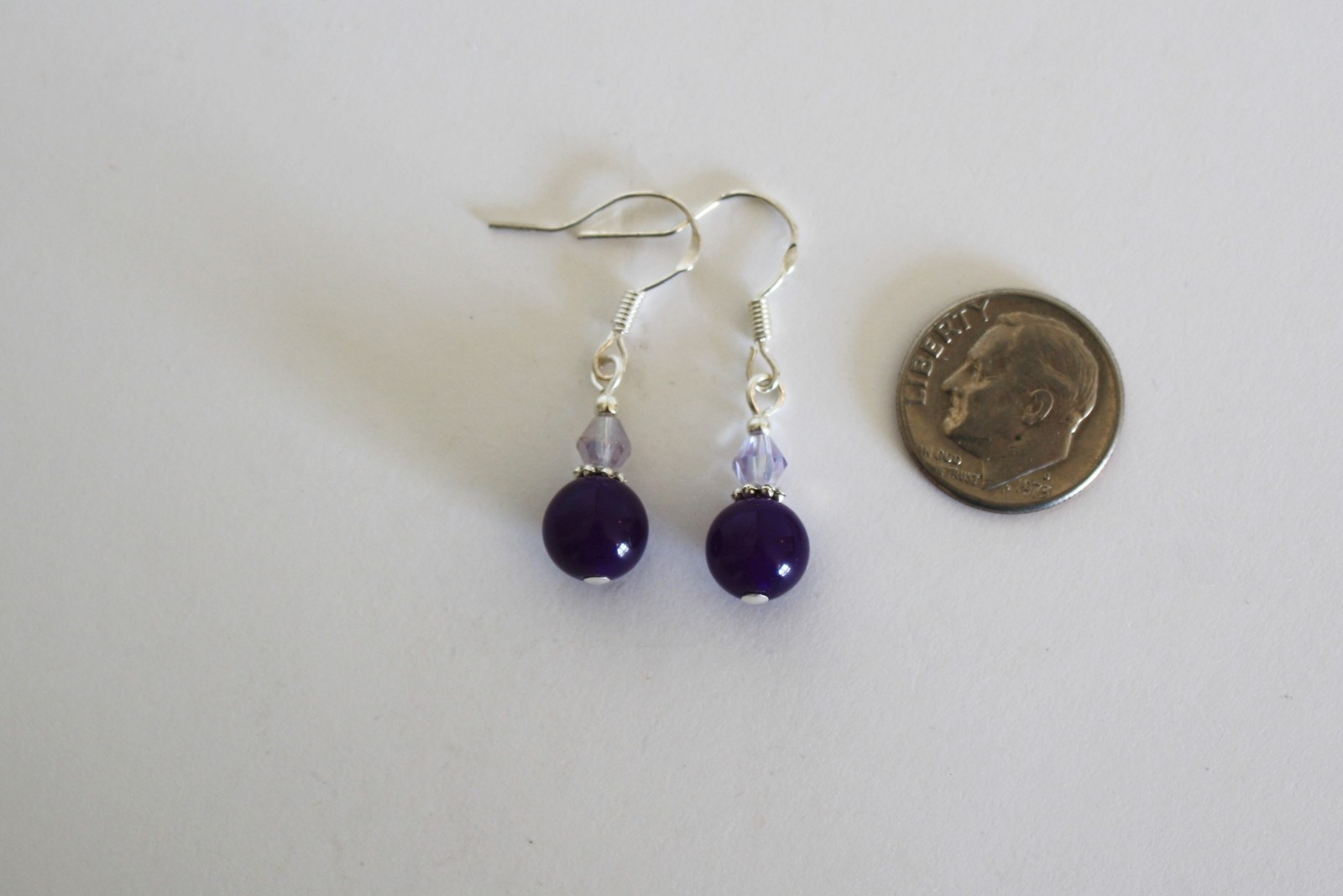 Turquoise, Amethyst, Lapis, Crystal Waterfall Necklacle and Amethyst Earrings