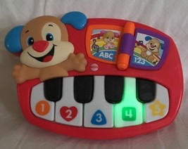 NIB Fisher-Price Laugh and Learn Puppy's Piano Puppy Dog Toy ABCs Songs ... - $15.99