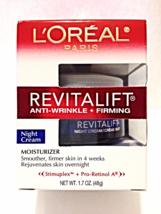 New Loreal Revitalift Anti-Wrinkle + Firming Night Cream Skin Moisturize... - $20.00