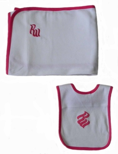 Rocawear Baby Girls 12 Mos. Bib and Receiving Blanket Set