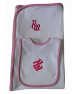 Rocawear Baby Girls 6-9 Mos. Bib and Receiving Blanket Set - $4.99