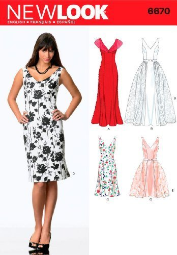 New Look Sewing Pattern 6670 Misses Dresses, Size A (8-10-12-14-16-18)