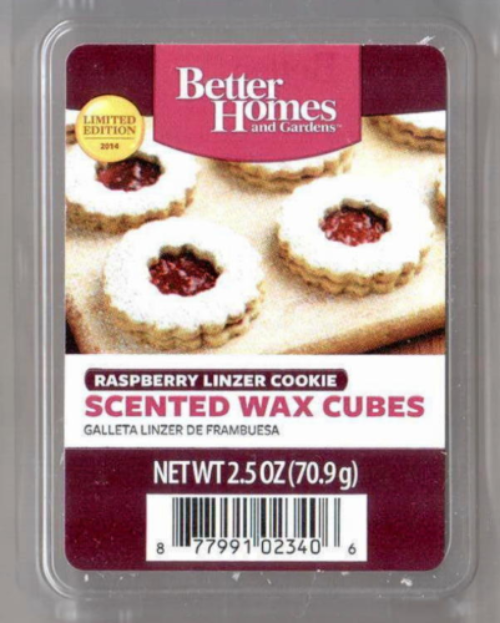 Raspberry linzer cookie better homes and gardens scented - Better homes and gardens scented wax cubes ...