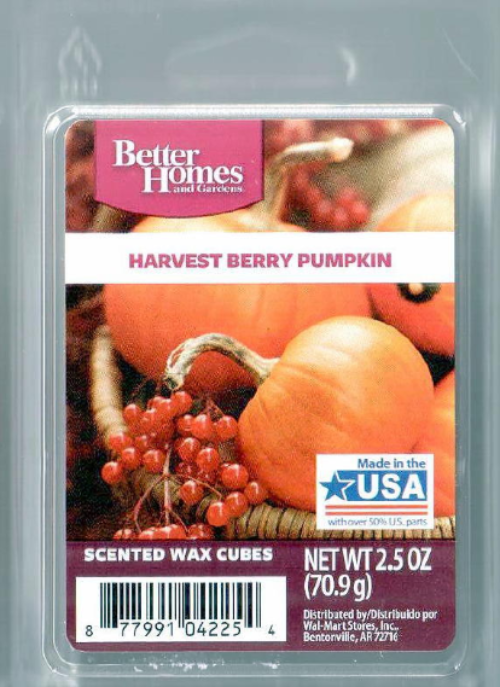 Harvest Berry Pumpkin Better Homes And Gardens Scented Wax
