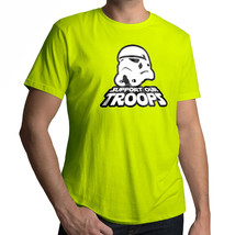Star Wars Stormtrooper Support Our Troops Mens 100% Cotton Crew Neck Tee T-Shirt - $16.76+