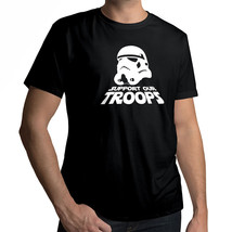 Star Wars Stormtrooper Support Our Troops Unisex Crew Neck Cotton Tee T-Shirt - $16.76+
