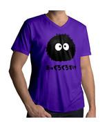 Totoro Spirited Away Soot Sprite Dust Bunny Mens 100% Cotton V-Neck Tee T-Shirt - $18.00