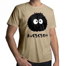 Totoro Spirited Away Soot Sprite Dust Bunny Unisex Crew Neck Cotton Tee T-Shirt - $14.14+