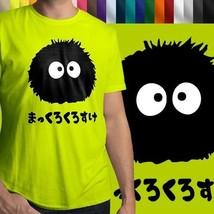 Totoro Spirited Away Soot Sprite Dust Bunny Mens Cotton Crew Neck Tee T-Shirt - $14.14+