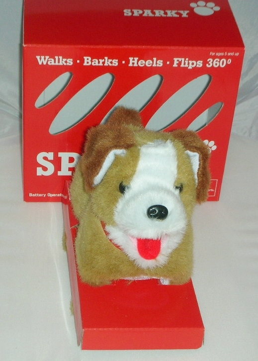 Sparky the Flip Over Dog Office Pet