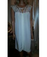 Vtg 40s 50s Tru Form by D Benay Off White Chemise Nightgown Burmil Rayon... - €20,41 EUR