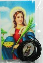 Medalla de Santa Lucía Medalla   Con cable Collar image 1