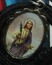 Medalla de Santa Lucía Medalla   Con cable Collar image 2