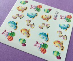 BANG STORE Nail Art Water Decals Easter Bunny Easter Eggs KAWAII CUTE RARE - $3.67