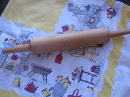 """Vintage Wood Rolling Pin middle 10"""" with ends 17"""" BREAD-pizza-Pie-Rolls-... - $9.99"""