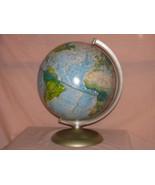 VTG WORLD RAND McNALLY WORLD PORTRAIT GLOBE PHOTO PROP DECOR CRAFTS SCHOOL - $19.99