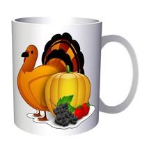 Happy Thanks Giving Turkey 11oz Mug o134 - $10.83