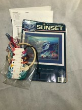 Sunset No Count Cross Stitch Kit Underwater Tranquillity Dolphin Fish 13932 - $8.79