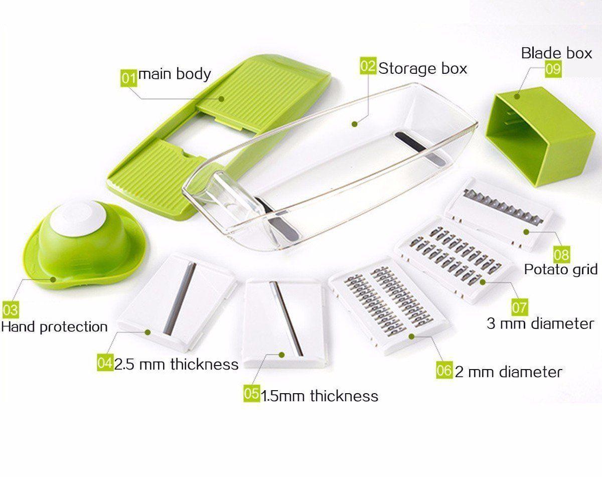 Mandoline Slicer, Adjustable Vegetable and 10 similar items