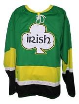 Custom Name # Team Ireland Irish Retro Hockey Jersey New Green Any Size image 1