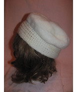 VINTAGE TAM KNIT & FAKE FUR-CHEMO-BERET-CLOCHE-... - $5.00