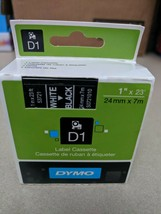 "DYMO Standard D1 Labeling Tape for LabelManager White print on Black 1"" x 23' - $12.86"