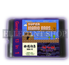 Combo 16 Bit Game Card 13 In 1 For Sega MD Mega Drive Genesis Sonic Contra - $9.99