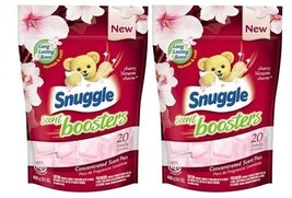 Snuggle Scent Boosters Cherry Blossom Concentrated Scent Pacs 2 Bag Pack - $28.66
