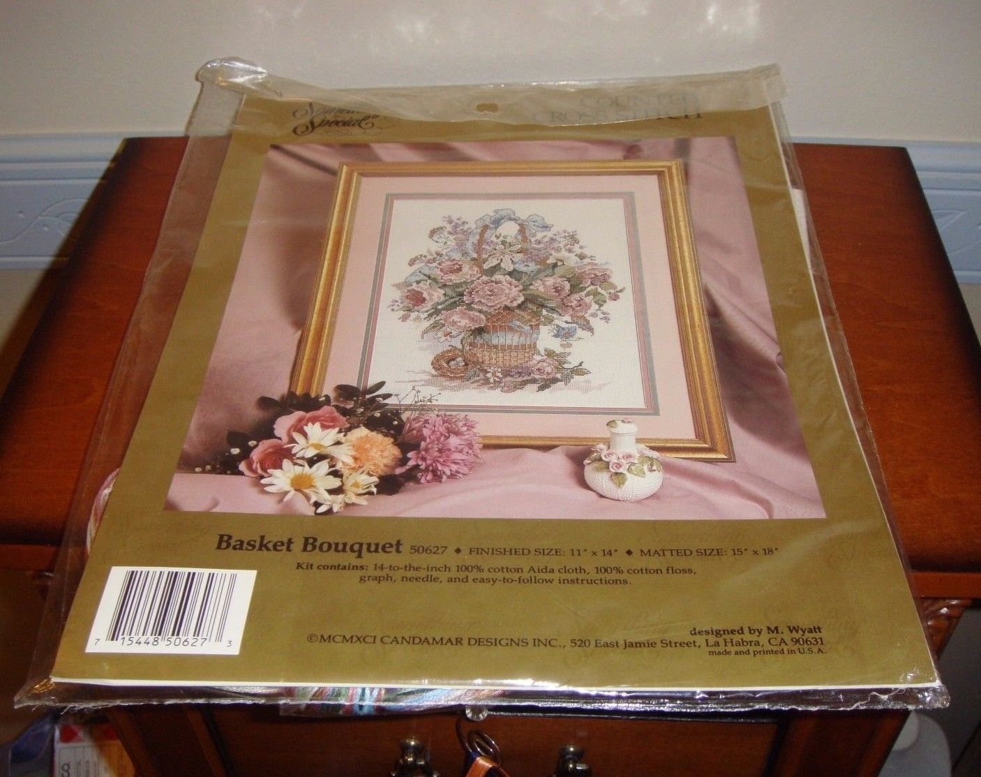 Something Special Basket Bouquet Cross Stitch Kit