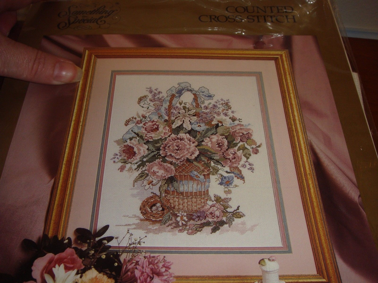 Something Special Basket Bouquet Cross Stitch Kit image 2