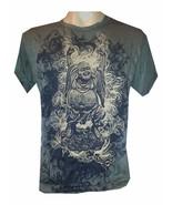 n2 Yoga Men T Shirt Buddha Ganesha Hindu India Zen Peace Hobo Boho M Pur... - $12.86