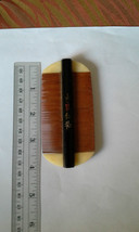 "Vintage Chinese Sandalwood Comb with Chinese Proverb, 4"" x 2"", FREE SHIP... - $8.90"