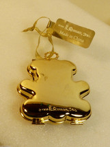 1999 by Roman Gold tone metal Teddy Bear Keepsake Frame Christmas Tree O... - $44.55
