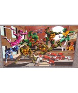TMNT vs The Power Rangers Glossy Print 11 x 17 In Hard Plastic Sleeve - $24.99