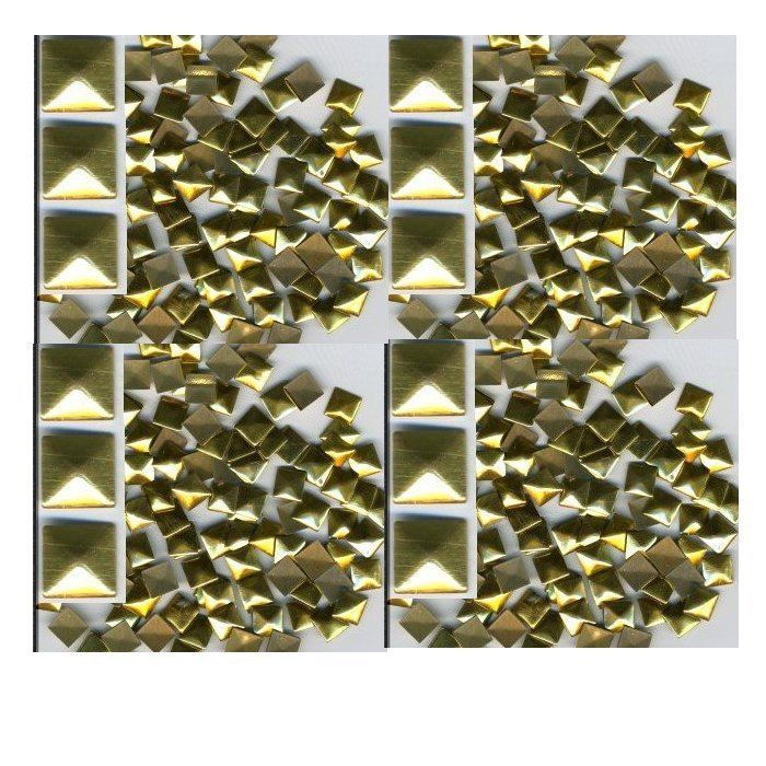 Primary image for SQUARES Faceted Rhinestuds 7mm GOLD  Hot Fix