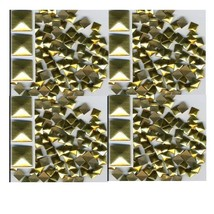 SQUARES Faceted Rhinestuds 7mm GOLD  Hot Fix - $4.92