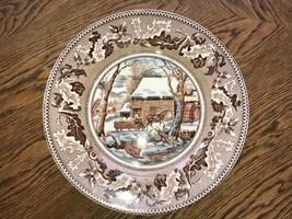 Johnson Bros Historic America Thanksgiving Frozen Up Dinner Plate Vintag... - $6.28