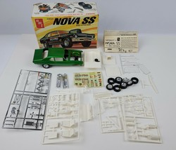 "Vintage 1972 Chevrolet Nova SS ""Pro Stocker"" AMT Model Kit Started w/ de... - $37.39"