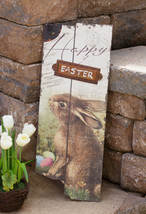 Country new rustic large Wood HAPPY EASTER sign / nice - $28.99