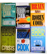 Medical thrillers by Robin Cook 6 book lot Brain, Contagion, Crisis, Inv... - $11.95