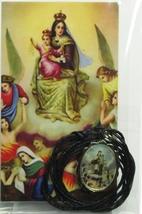 Medalla Honda de Virgen del Carmen / Con cable Collar