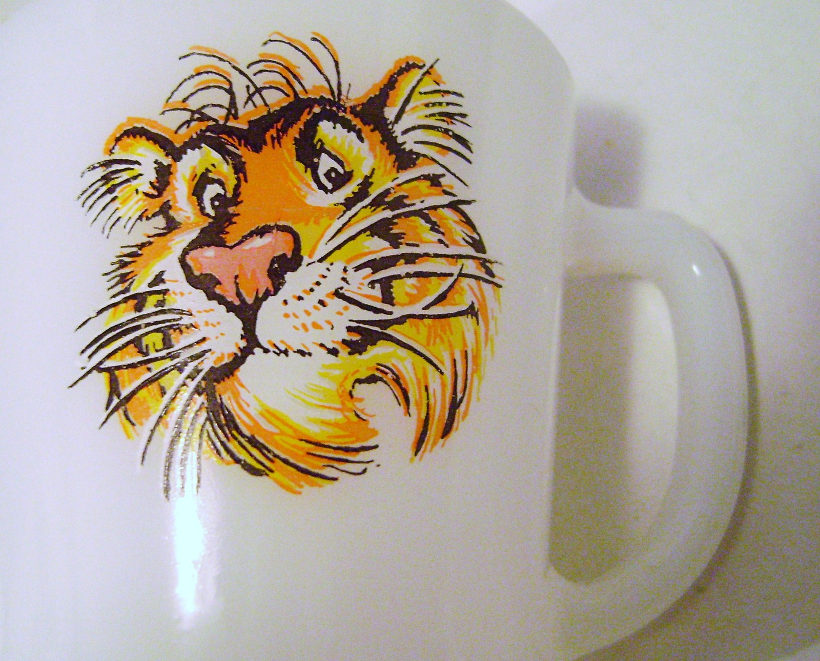 Primary image for Vintage Fire King Esso Gasoline Tiger Coffee Mug D Handle