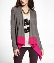 Express Cascading Neon Colorblock Cotton Cover-up Sweater, size M, NWT - $45.50