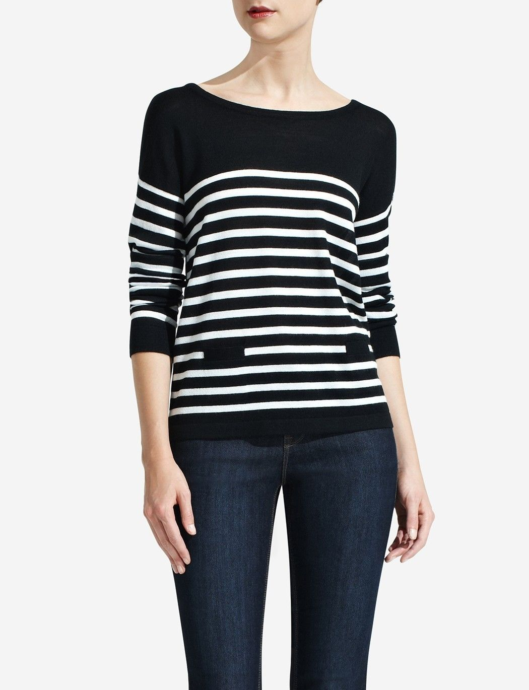 Primary image for The Limited Striped Merino Crewneck Sweater, size M, NWT