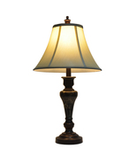Bronze and Marble Table Lamp 25-inch Lighting Accent Designer Decoration  - $49.22