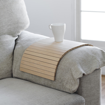 tray that fits the arm of the sofa and all unstable surfaces. wood maple - $40.00