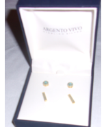 ARGENTO VIVO STERLING SILVER EARRINGS NEW IN BOX FREE SHIPPING - $24.88
